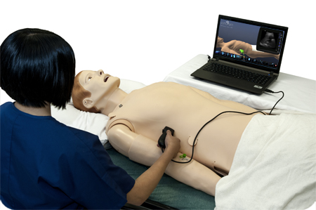 Physicians and sonographers can train at home using the SonoSim online ultrasound education simulator program