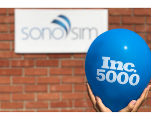 SonoSim Named to Inc. 5000 List of Fastest-Growing Companies Again!